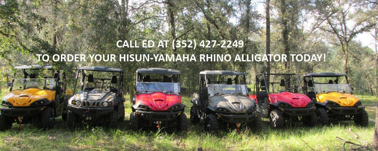 Order your Hisun-Yamaha Rhino Alligator today!