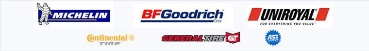 We carry products by Michelin®, BFGoodrich®, Unrioyal®, Continental, and General. We are ASE certified.