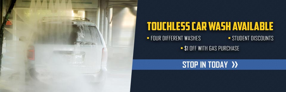 Touchless Car Wash Available: Click here for details!