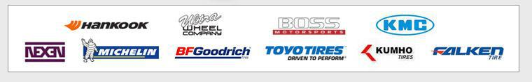 We proudly carry Hankook, Ultra, Boss, KMC, Nexen, Michelin®, BFGoodrich®, Toyo, Kumho, and Falken.