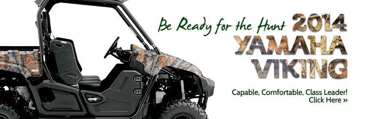 Be ready for the hunt with a 2014 Yamaha Viking!