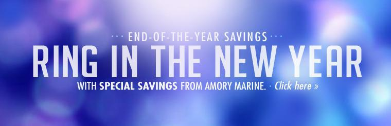 Ring in the new year with special savings from Amory Marine.