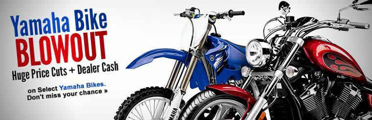 Yamaha Bike Blowout! Click here to shop the sale.