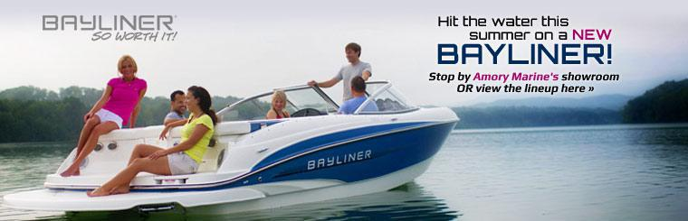Hit the water this summer on a new Bayliner! Click here to view the lineup.