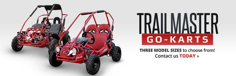 Trailmaster Go-Karts: There are three model sizes to choose from! Click here to contact us.