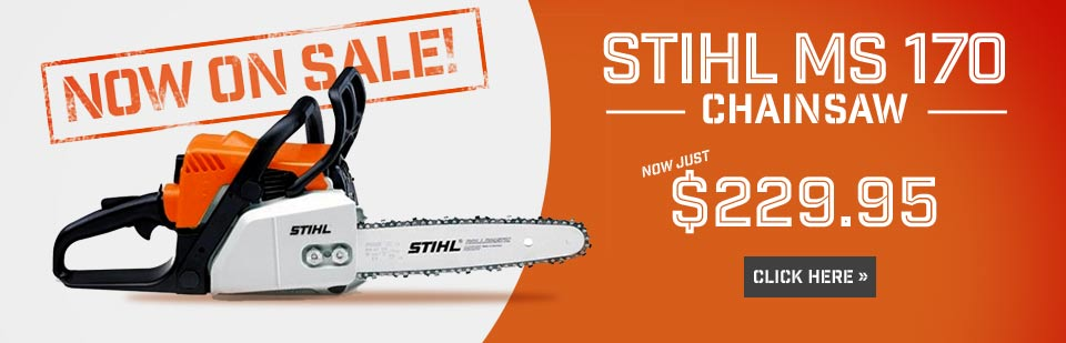 The STIHL MS 170 chainsaw is now on sale for $229.95! Click here for details.