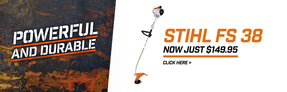 Get the powerful, durable STIHL FS 38 for just $149.95! Click here for details.