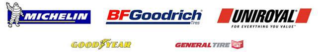 We proudly carry products from Michelin®, BFGoodrich®, Uniroyal®, Goodyear, and General.