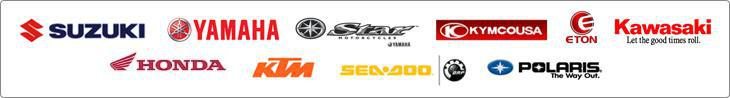 We proudly carry products from Suzuki, Yamaha, Star Motorcycles, KYMCO, E-TON, Kawasaki, Honda, KTM, Sea-Doo, and Polaris.