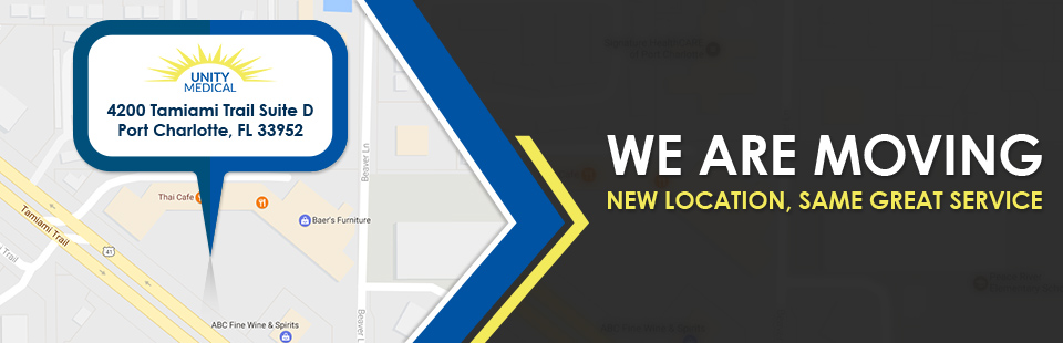 We are moving! Our new location will be at 4200 Tamiami Trail, Suite D in Port Charlotte, FL.