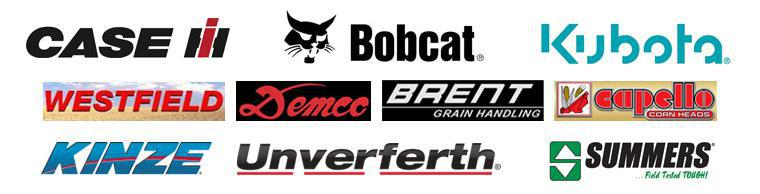 We are proud to carry products from Case IH, Bobcat, Kubota, Westfield, Demco, Brent Grain Handling, Kinze, Capello Corn Heads, Unverferth, and Summers.