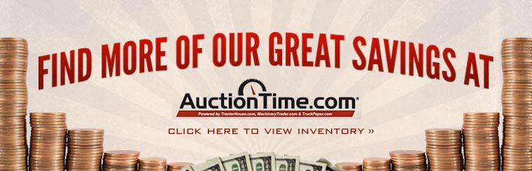 Find more of our great savings at AuctionTime! Click here to view our inventory.