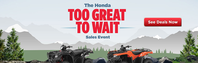 Honda's Too Great To Wait Sales Event
