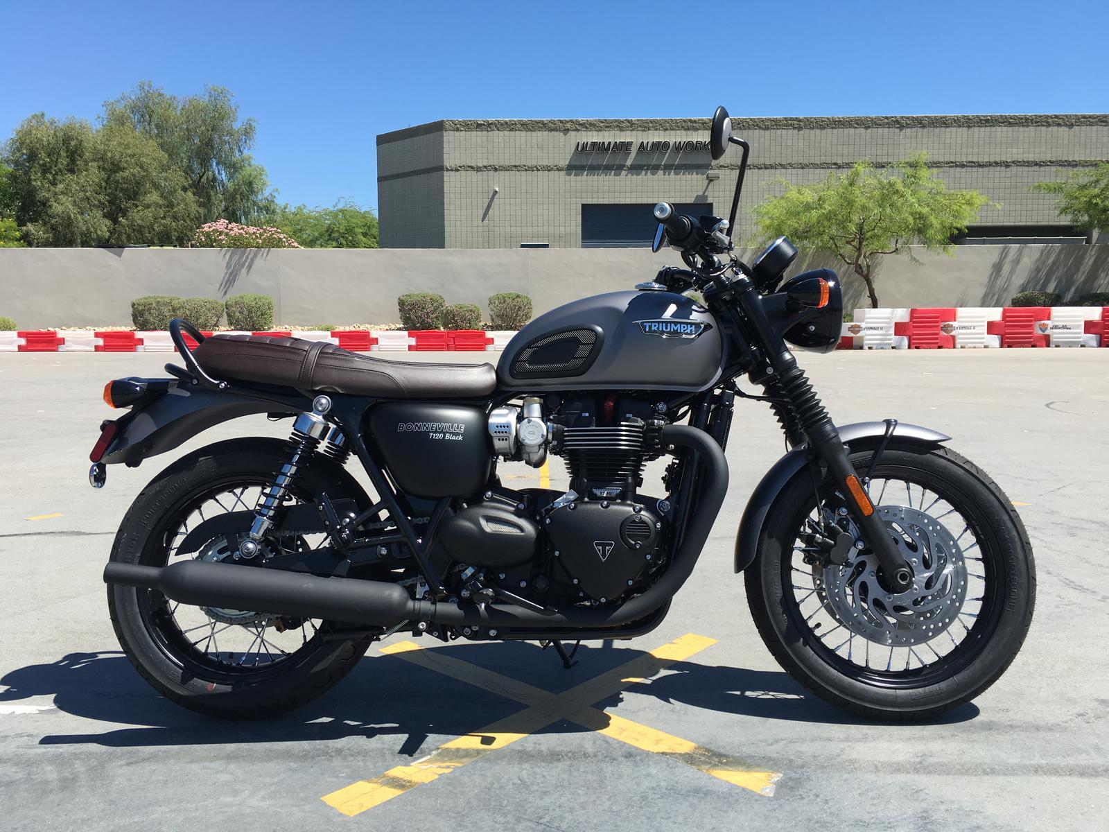 2018 Triumph Bonneville T120 Black Matte For Sale In Scottsdale