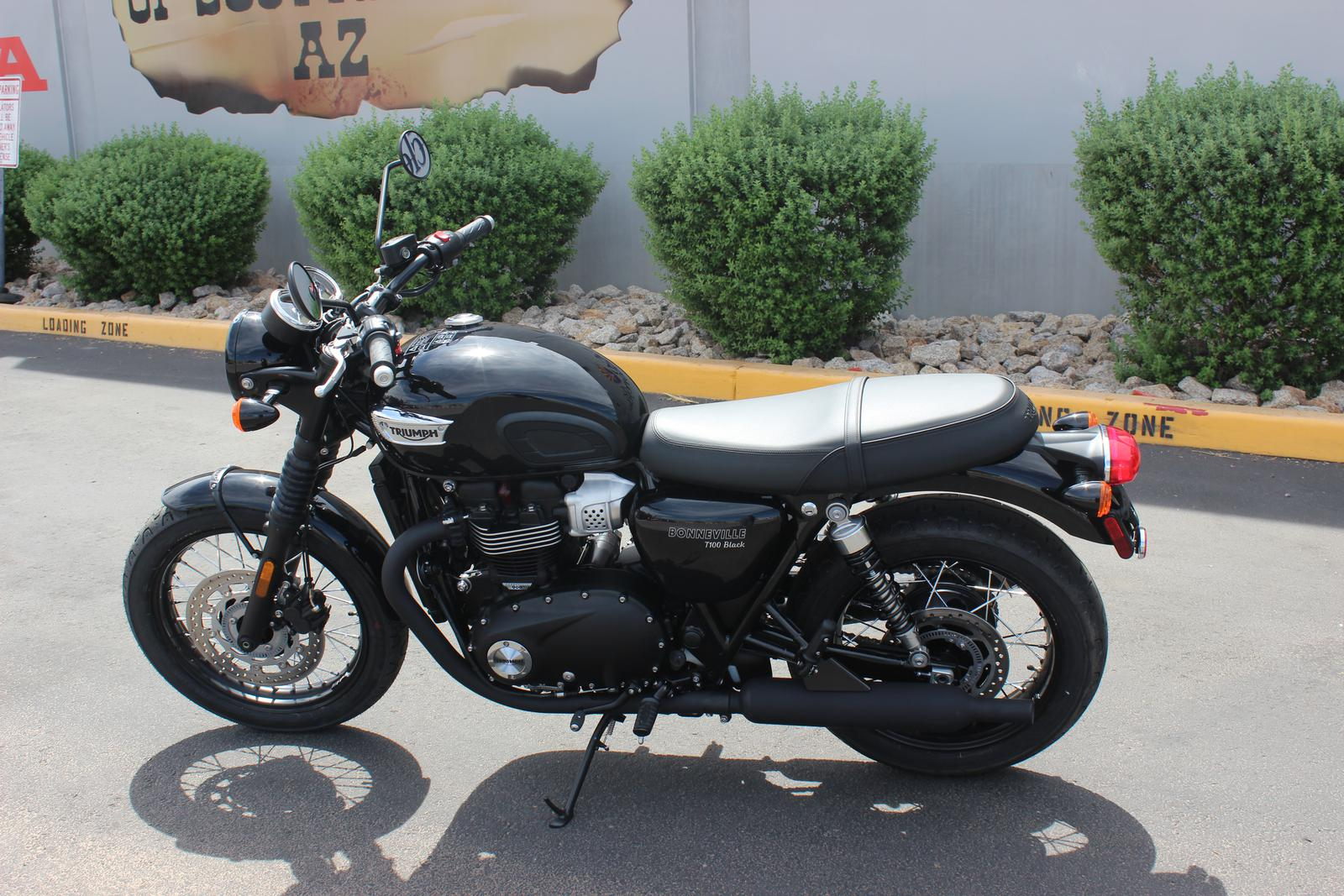 2018 Triumph Bonneville T100 Black For Sale In Scottsdale Az Go Az
