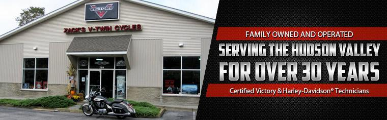 We are family owned and operated, serving the Hudson Valley for over 30 years! We are certified Victory and Harley-Davidson® technicians! Click here to view our gallery.