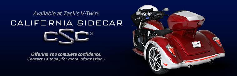 California Sidecar Available at Zack's V-Twin: Contact us today for more information.