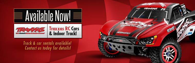 Traxxas RC Cars & Indoor Track Available Now: Track & car rentals are available! Contact us today for details!