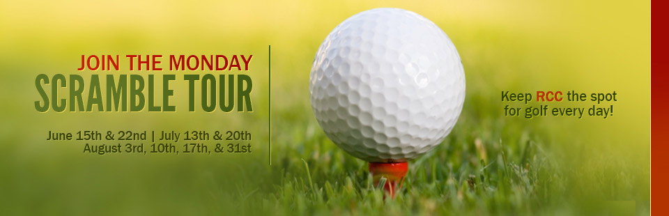 Join the Monday Scramble Tour! Contact us for details.