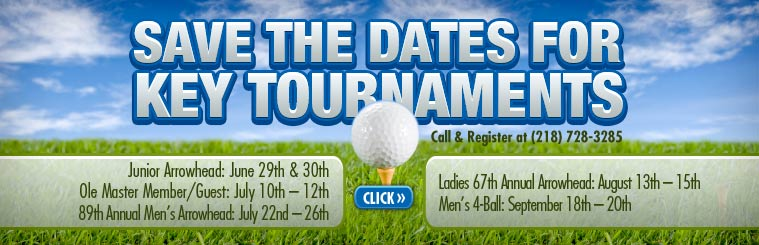 Save the Dates for Key Tournaments