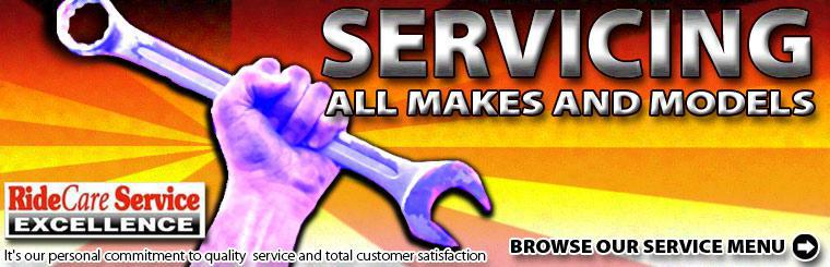 We service all makes and models! Click here to browse our service menu.
