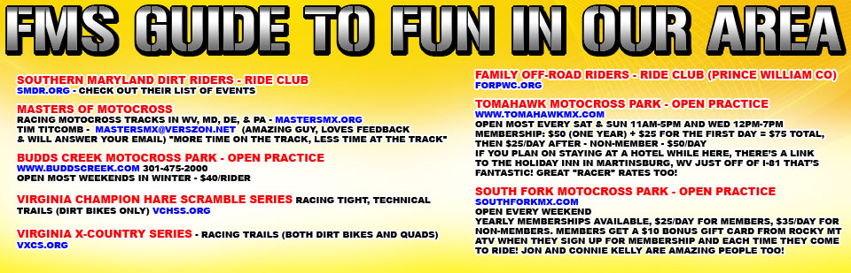 FMS Guide to Fun in our Area