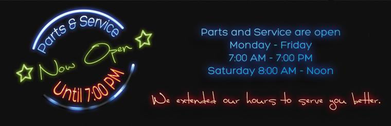 Truck Parts and Service- Extended Hours- 7am-7pm