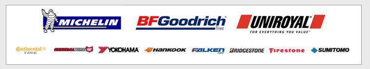 We carry products from Michelin®, BFGoodrich®, Uniroyal®, Continental, General, Yokohama, Hankook, Falken, Bridgestone, Firestone, and Sumitomo.