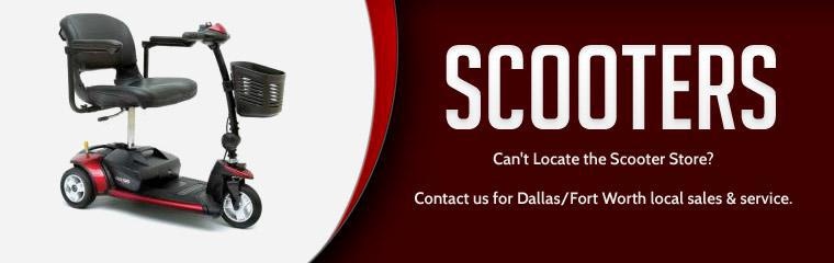 Scooters: Contact us for Dallas/Fort Worth local sales and service.
