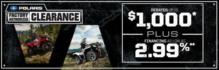Polaris Factory Authorized Clearance event