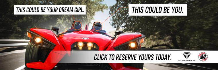 Reserve your Polaris Slingshot at Grand Prix Motorsports