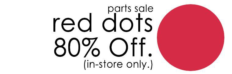 Grand Prix Parts-Red Dot's are 80% Off in-store