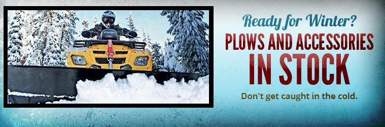 Are you ready for winter? We have plows and accessories in stock!