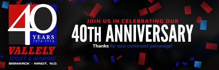 Join us in celebrating our 40th anniversary! Contact us for details.