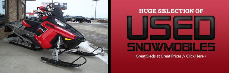 We have a huge selection of used snowmobiles!