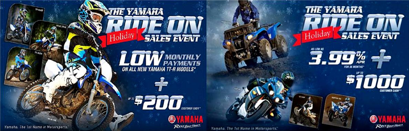 Yamaha Ride On Sales Event
