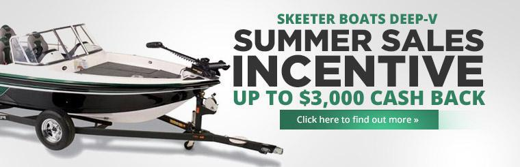 Skeeter Boats Deep-V Summer Sales Incentive: Click here to find out more.