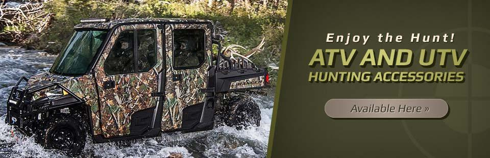 ATV and UTV Hunting Accessories Available: Click here to shop online.