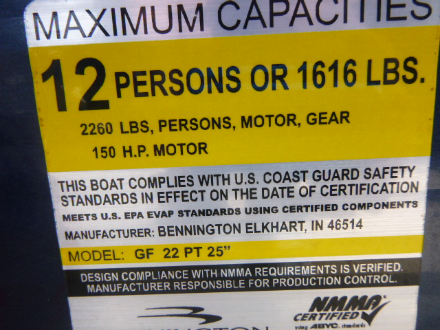 2011 Bennington G Series 2275 GSi for sale in Millsboro, DE. Short\'s ...