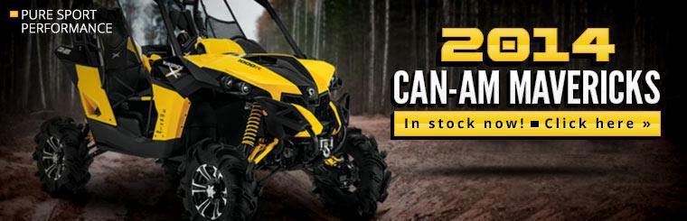 The 2014 Can-Am Mavericks are in stock now.