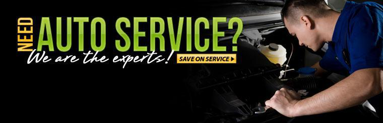 We are the auto service experts! Click here to save on service.