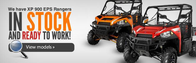 We have XP 900 EPS Rangers in stock and ready to work! Click here to view models.