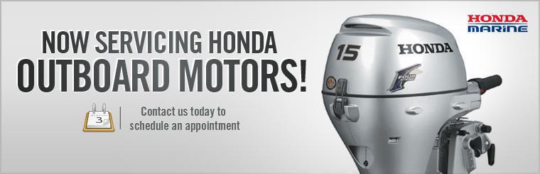 We now service Honda Outboard motors! Contact us today to schedule an appointment.