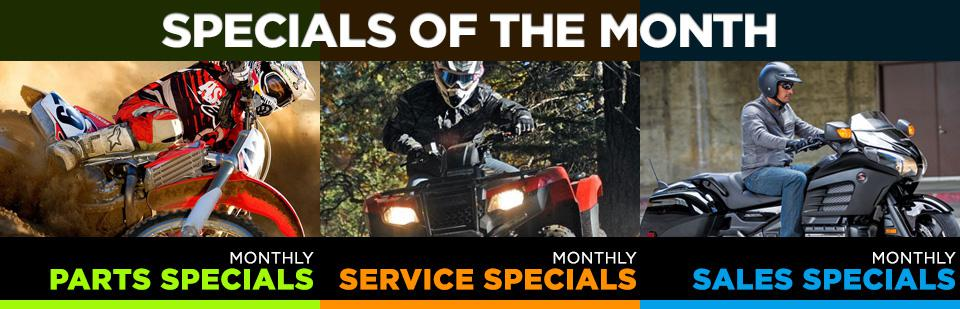 Check out our specials in parts, service and sales!