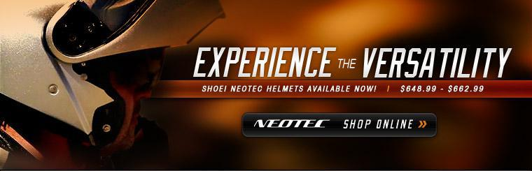 Shoei Neotec helmets are available now! Click here to shop online.