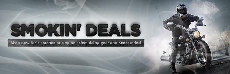 Smokin' Deals: Shop now for clearance pricing on select riding gear and accessories!