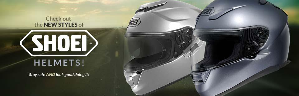Check out the new styles of Shoei helmets!