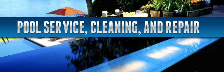 We offer pool service, cleaning, and repair.