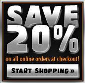 Save 20% on Online Orders
