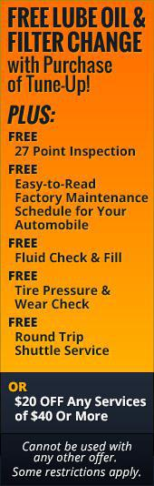 Free Lube, Oil, and Filter Change